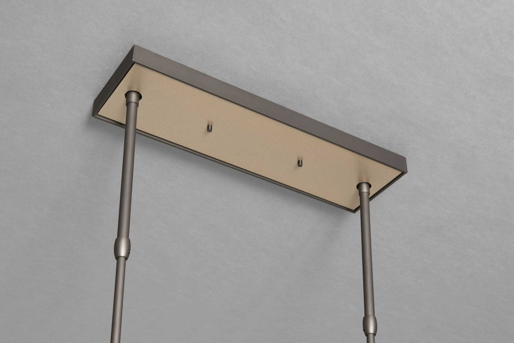 BRUTUS PENDANT CANOPY IN DARK ASH AND SOFT GOLD FINISH
