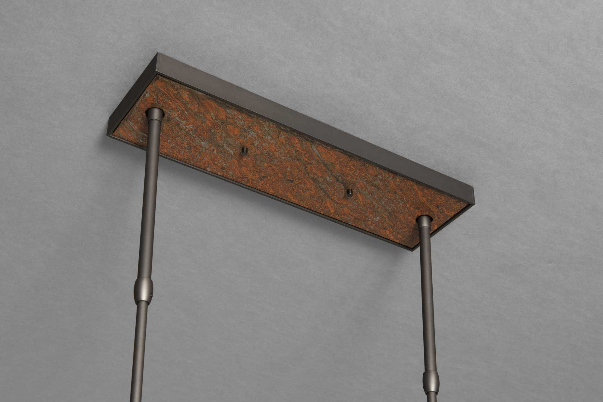 BRUTUS PENDANT CANOPY IN DARK ASH AND RUST FINISH