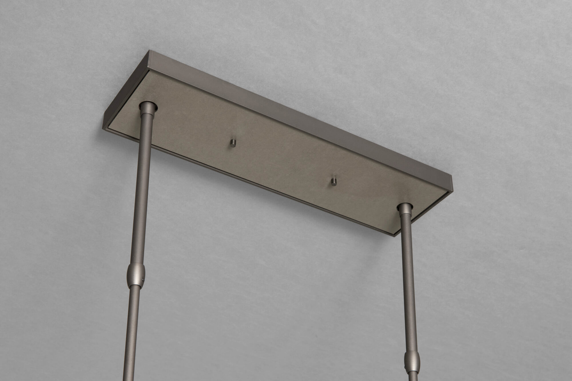 BRUTUS PENDANT CANOPY IN DARK ASH AND CLEAR STEEL FINISH