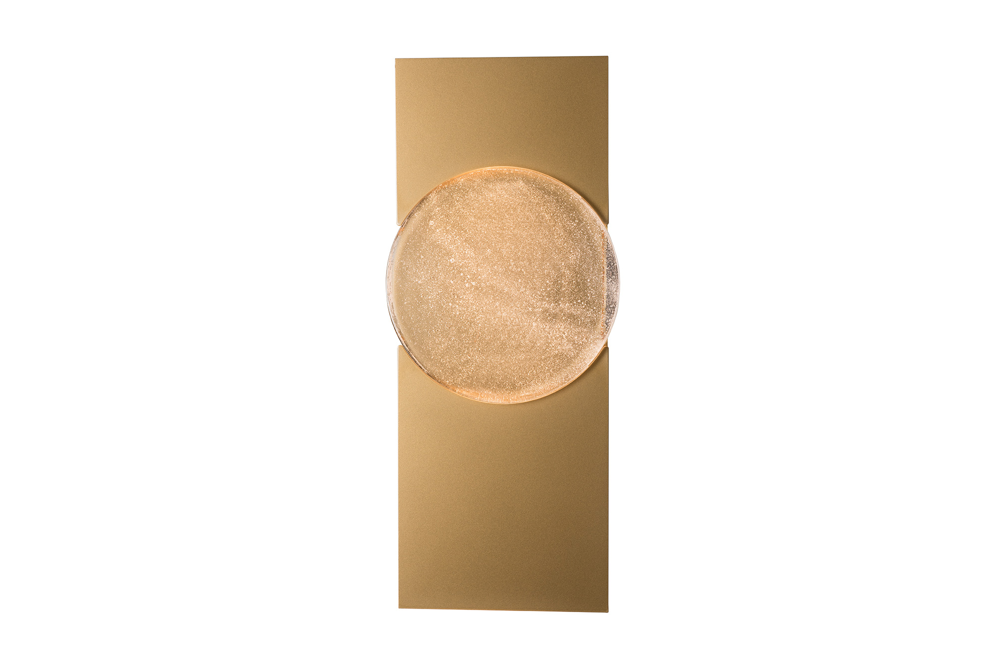 MOON OUTDOOR SCONCE – LARGE GOLD FINISH