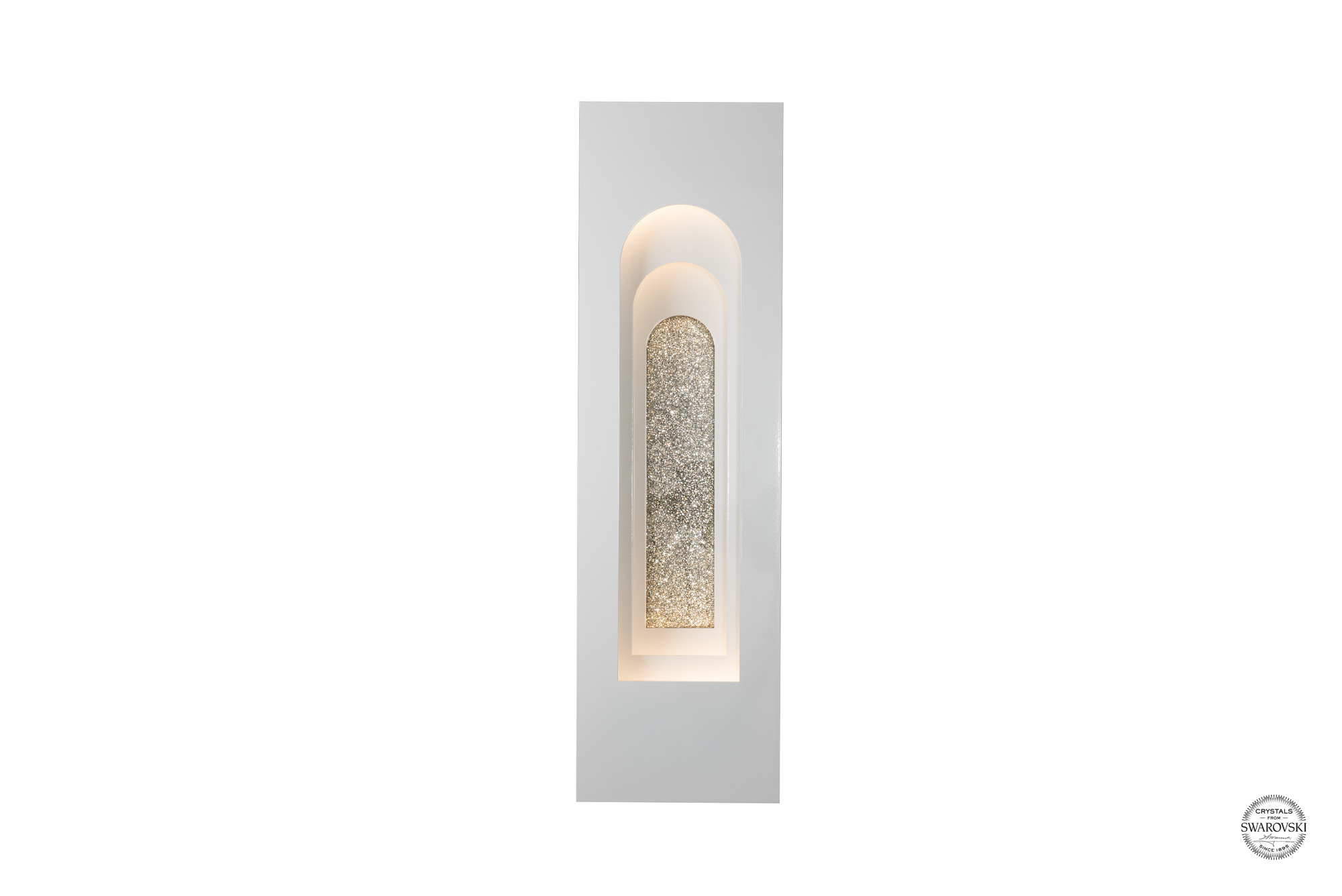 PROCESSION ARCHED OUTDOOR SCONCE – SMALL WITH SWAROVSKI® INSET