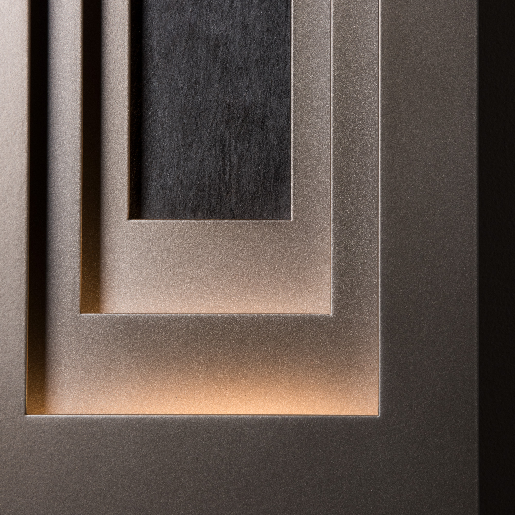 PROCESSION OUTDOOR SCONCE – LARGE WITH SLATE INSET
